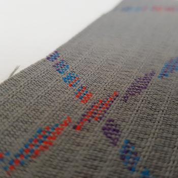 Bezugstoff grau mit M-Power Musterung blau, rot und violett für E36 M3