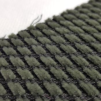 Bezugstoff Diagonalstreifen grau-grün