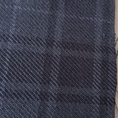 Bezugstoff Überkaro indigo blau