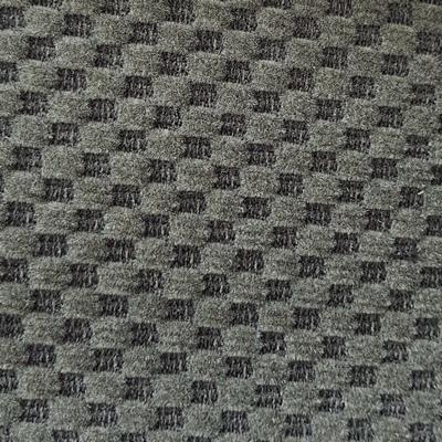 Bezugstoff Schachbrett-Velour anthrazit / grau