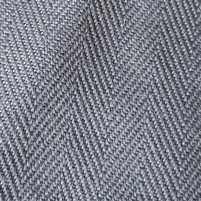 Bezugsstoff Fischgrat graublau