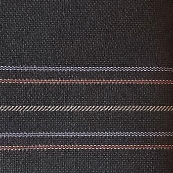 Bezugstoff Avantage-Flachgewebe Mauritiusblau mit bunten Streifen,  Edition one