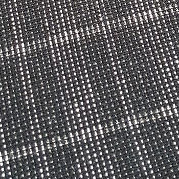 Bezugstoff Großkaro schwarz-silber