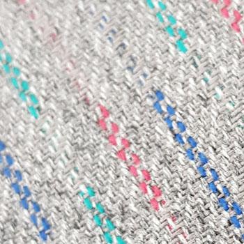 Bezugstoff Mikado grau mit Farbsprenkeln