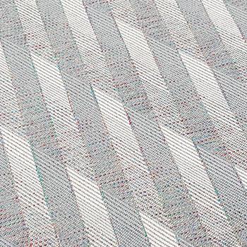 Bezugstoff grau mit Vertikalen/Diagonalen Streifen