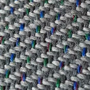 Bezugstoff uni grau mit Farbsprenkeln