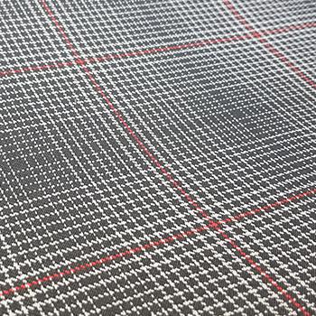 "Bezugstoff ""Scale Paper"" schwarz/grau/rot"
